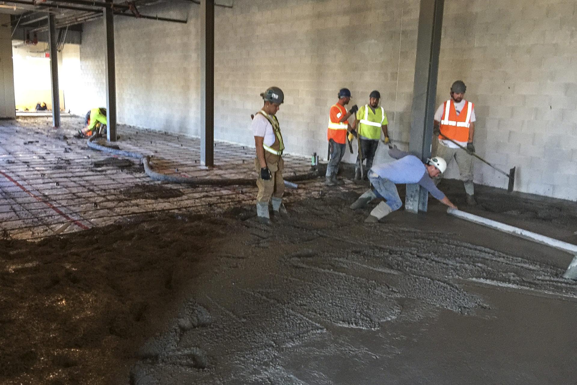 Shaw Park Renovation Pouring Concrete
