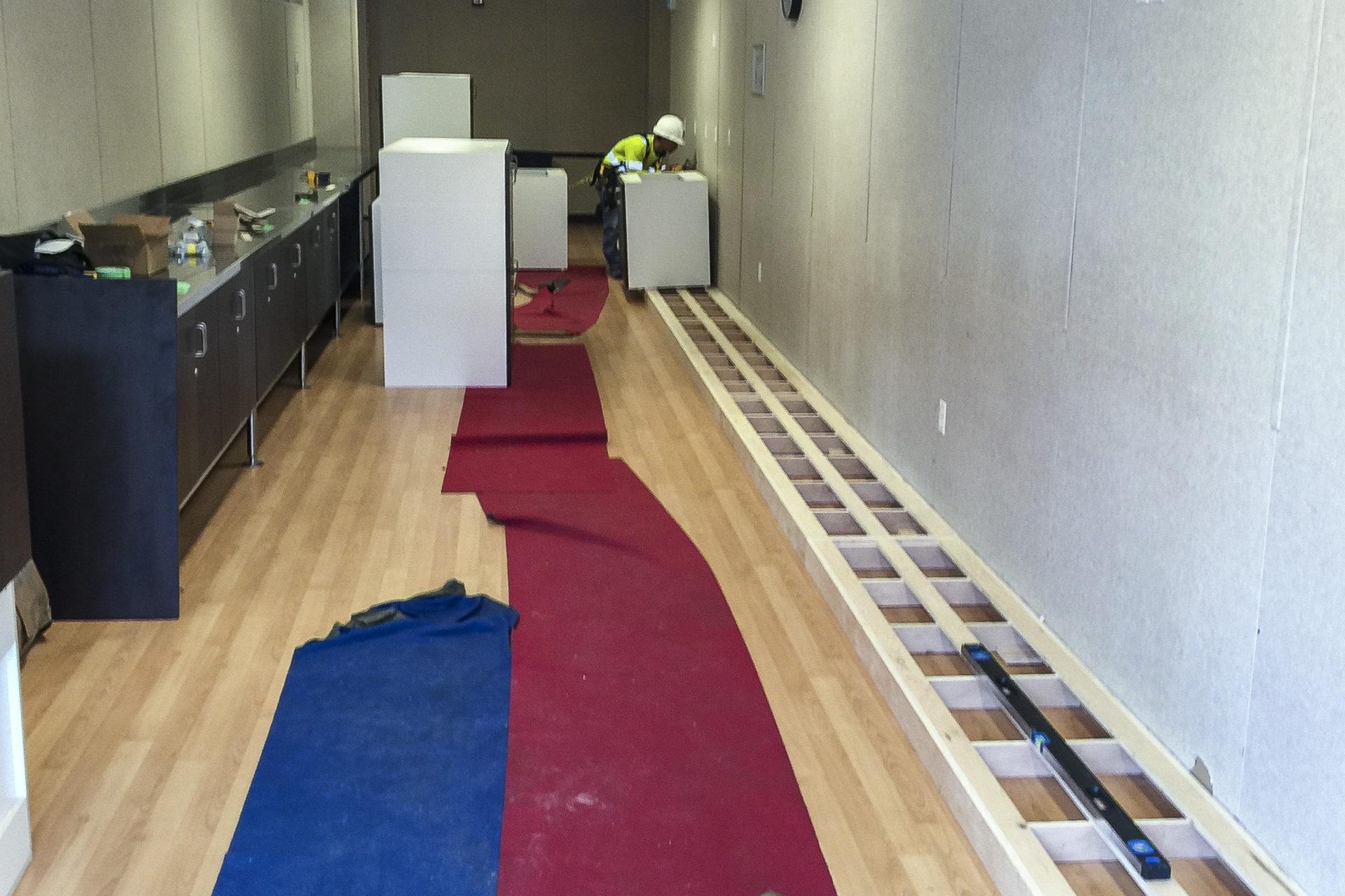 Keeyask Camp Renovation Cupboards Installation